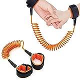 gotyou 2M Kind Anti-Verlorene Armband,Sicherheit Verstellbare Handschlaufe,Kind Sicherheitsleinen Baby Sicherheitsgurt,Kind Anti-Verloren Kind Sicherheitsausrüstung für Kinder und Kleinkinder(Orange)