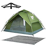Night Cat Zelt 3 4 Personen Mann Wasserdicht Pop Up Zelt Camping Atmungsaktiv Einfache Einrichtungs für Outdoor Wandern Doppelschicht