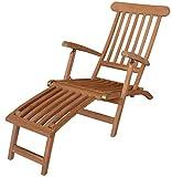 KMH®, Deckchair *Classic* echt TEAK (ohne Auflage)
