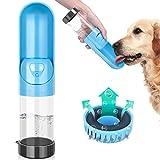 TSYMO Hund Wasserflasche - Tragbare Haustier Katze Travel Trinkflasche Tragbare Reise Trinkflasche Wasserspender für Camping, Spaziergang, Wandern, Training, Unterwegs Outdoor 10 oz