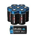ANSMANN CR123A 3V Lithium Batterie - 8er Pack CR123 Batterien geeignet für Kameras, Alarmanlagen, Taschenlampen und mehr - Einwegbatterie