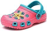 Kinder Clogs Pantoletten Mädchen Jungen Sandalen Slip On Outdoor Flach Hausschuhe Geschlossene Strand Sandale Schuhe Sommer Pink (Paradise) 30 EU/31CN