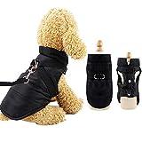 Eastlion Winter Hundemantel Warm Wasserdicht Hundejacke Welpen Hunde Kleidung Bekleidung Weste mit D-Ring,Schwarz,Größe L