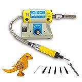 YUCHENGTECH Elektro Meißel Schnitzwerkzeug Elektro Holzschnitzmeißel Elektrische Holzbearbeitungs Schnitzmaschine für Weichholz (Basic)