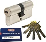 ABUS EC660 Profil-Doppelzylinder Länge (a/b) 40/55mm (c=95mm) mit 6 Schlüssel, mit Sicherungskarte