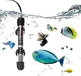 PECHTY Aquarium Heizung, 50W Unterwasser Fish Tank Heater mit Thermometer und Saugnapf, Aquarium Heater für Süß und Meerwasser Aquarien