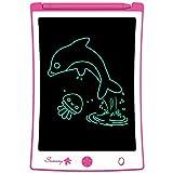 Sunany LCD Schreibtafel 8.5 Zoll, Zeichentafel für Kinder,Löschbare Elektronische Digitale Zeichenblock Writing Tablet, Geschenk für Kinder Erwachsene Home School Office (Rosa)