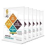 6 Stück A5 Acryl Werbeaufsteller Aufsteller Tischaufsteller menükartenhalter Prospekthalter für Papiere Broschüren Anzeige auf Tisch