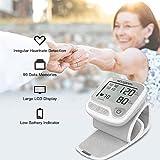 Koogeek Smart & Bluetooth Elektronische Handgelenk Blutdruck Digital Heart Beat & Pulse Gesundheit LCD Bildschirm Monitor mit Sprachansagen (Grau)