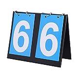 Tragbare Anzeigetafel, 2/3/4 Digit Flip Sport Anzeigetafel Spielstand Zähler für Tischtennis Basketball(2-stellig)