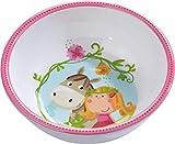 HABA 300384 - Schüssel Vicki & Pirli, Kinderschüssel aus Melamin mit rutschfestem Boden, spülmaschinengeeignet