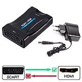 SCART auf HDMI Konverter, Ticent & Co Scart zu HDMI Konverter Adapter 1080P HD Video Wandler für HDTV STB Xbox PS3 Sky DVD Blu-ray