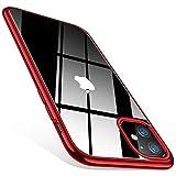 TORRAS Crystal Clear kompatibel mit iPhone 11 Hülle, Transparent [Anti-Gelb] Dünn iPhone 11 Case Schutzhülle Silikon Klar Slim Stoßfest Clear Durchsichtige Bumper Cover Handyhülle für iPhone 11 - Rot