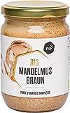 nu3 Bio Mandelmus braun - 250 ml im Glas - aus 100% knackigen Mandeln - beste Rohkost Qualität aus Spanien - perfekt zum Backen in Smoothies oder als zart-cremiger Brotaufstrich - Vegan & ohne Zusätze