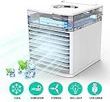Mobil Klimaanlage NEXFAN Air Cooler Mini Luftkühler Purifier 4-in-1 Mobilklimaanlage Bunter LED-Licht-Verdunstungskühler für Zuhause, Büro, Reisen