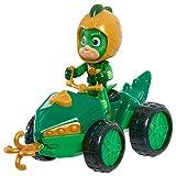 Simba – PJ Masks Quad Gecko / mit Superhelden Action Figur / mit integrierter Seilwinde / grün mit goldenen Akzenten / Figur 8cm groß, für Kinder ab 3 Jahren
