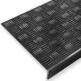 Stufenmatte aus Gummi | mit stark rutschhemmendem Riffelprofil | 25x75cm | verschiedene Stückzahlen (5er-Vorteilspack)