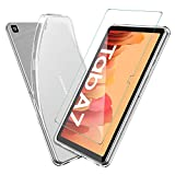 ELTD Hülle mit Displayfolie für Samsung Galaxy Tab A7, TPU Schutzhülle mit Glas Displaysfolie für Samsung Galaxy Tab A7 2020 10.4 Zoll (Transparent)