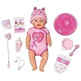 Zapf Creation 824368 BABY born Soft Touch Girl Puppe mit lebensechten Funktionen und viel Zubehör, bewegliche Gelenke und weiche Soft-Touch-Oberfläche, 43 cm