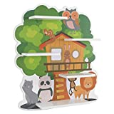 Homfa Kinderregal Regal für Kinderzimmer Wandregal Wandboard Schweberegal Baumhaus 52x11,2x58 cm