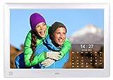 Cytem Diamine QS 10sw Digitaler Bilderrahmen 25,7cm (10.1 Zoll) in 16:10 HD IPS   Bewegungssensor   Transparenter Kalender   4 Bild Anzeige   Vollbild-Uhr   Silber