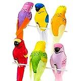 Talking Tables Tropical Fiesta; Farbenfrohe Vogeldekoration für Geburtstage, Grillfeste und Sommerpartys, Bunt (6 pro Pack)