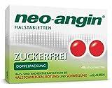 neo-angin Halstabletten zuckerfrei – Lutschtabletten bei Halsschmerzen & Halsentzündungen – 48 Tabletten