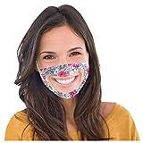 SHUANGA transparent Face Cover Erwachsene männliche weibliche Lustige atmungsaktiver, Wiederverwendbare Outdoor Unisex Staub, Baumwolle Soft Half Face, Filter Stoff Design für Taubstumm