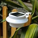 [6 Stück] Dachrinnen Solarleuchten Wasserdichte Solar Garten Wandleuchte Dachrinnenbeleuchtung, Solar Wegeleuchte für Haus, Zaun, Garte