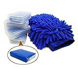 4 Pack Clay Bar, Auto Reinigungsknete - Auto Zauber Reinigungsknetmasse mit Microfaser Chenille Waschhandschuh zur Fahrzeugreinigung