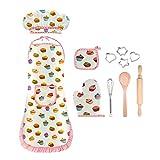 SOKY Spielzeug für Mädchen 3-10 Jahre, Geschenk für Mädchen ab 3-10 Jahre Kinder Backset mit Kinderschürze für Jungen ab 3-10 Jahre Utensilien Schürze Der Junge Koch Kochmütze Outfit Spiel Set