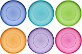 idea-station NEO Kunststoff-Teller 6 Stück, 17.5 cm, bunt, mehrweg, bruchsicher, rund, Plastik-Teller, Teller-Set, Camping-Teller, Kinder-Teller, Plastik-Geschirr, Party-Geschirr, Camping-Geschirr