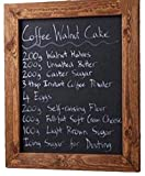 ELAFI® Magnetische Kreidetafel 20 x 30cm anthrazit schwarz   Schreibtafel zum Aufhängen A4   Schiefertafel mit Rahmen   Magnettafel aus Kiefernholz   Wandtafel inkl. Jute Seil zum Aufhängen