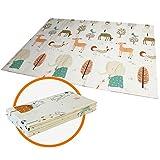 Spielmatte Baby Teppich Spielteppich Faltbarer Krabbelmatte Ungiftig XPE-Schaumboden Rutschfest Beidseitig Tragbar Wasserdicht für Innen- oder Außenbereich für Kleinkind Bunt (150 x 197 x 1 cm)