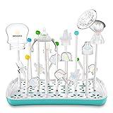 Termichy Abtropfgestell Babyflaschen, Trockenständer für Flaschen, Saugern, Bechern und Zubehör, BPA-frei (Blau&Weiß)