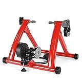 Indoor Cycling Bike Trainer Rollen MTB Road Fahrrad Roller Trainer Home Übung Turbo Trainer Radfahren Fitness Training-Tool,Rot