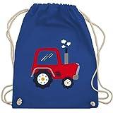 Shirtracer Fahrzeuge Kind - Kinder Traktor - Unisize - Royalblau - turnbeutel traktor mit namen - WM110 - Turnbeutel und Stoffbeutel aus Baumwolle