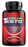 Testo Booster | Pre Workout | L-Arginin + L-Citrullin Extrem HOCHDOSIERT | 60 Kapseln