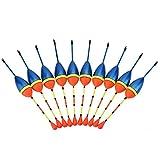 VGEBY Friedfischposen, 10 Stücke Stippangeln Schwimmer Friedfisch Angelposen Angelgerät Float Bobbers Set mit Float Rest Zubehör für Süßwasserfischen
