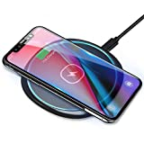 ELEGIANT Fast Wireless Charger 10W Kabellos Ladegerät Ladepad Schnellladestation für Samsung Galaxy S20 /S20 Ultra /S9 /S8 /S8 Plus /S7 iPhone 11 X XS XR 8 Huawei Mate 20pro P30pro alle Qi Fähige