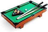 YUKM Mini-Desktop-Billardtisch, Holzstäbchen, Kreide, Bürsten und Dreiecke sind leicht zu tragen, geeignet für die ganze Familie zum Spielen