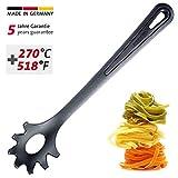 Westmark Spaghettilöffel/Pasta-Schöpflöffel, Hitzebeständig bis 270 °C, PPA, Länge: 30,5 cm, Gentle Plus, Schwarz, 28602270