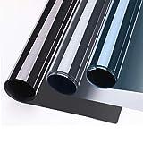 KINLO Sonnenschutzfolie Spiegelfolie Hitzeschutz Sichtschutzfolie Fensterfolie Tönungsfolie Sichtschutz Wärmeisolierung 99% UV-Schutz Silber-Weiß 75x300cm