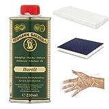 Hermann Sachse Holzöl Arbeitsplattenöl | Holz Pflegeöl farblos | 250ml Hartöl zur wirkungsvollen Erst und Nachbehandlung | Möbelöl im Set