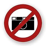 10 Stück Fotografieren verboten Aufkleber Foto Verbotszeichen Gebotszeichen Aufkleber mit UV Schutz Warnzeichen für Außenbereich Innenbereich Fotos von STROBO 9,5 x 9,5 cm Fotografie