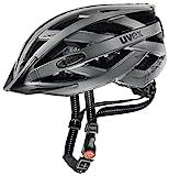 Uvex Unisex– Erwachsene, city i-vo Fahrradhelm, dark silver mat, 52-57 cm