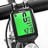 BACKTURE Fahrradcomputer, Fahrradtacho Tachometer Fahrrad Kabellos Wasserdicht Tacho Drahtlos Fahrradtacho Drahtloser LCD-Hintergrundbeleuchtung-Bewegung-Sensor für Radsport Realtime Speed Track