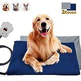 VIFLYKOO Heizmatte für Haustiere, Elektrisches Heizkissen mit 7 Einstellbaren Temperaturen 30W Wärmematte Weich Haustier Heizkissen für Hunde und Katzen Innenwärmematte(65 * 40cm)