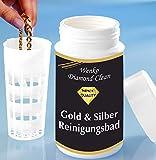 WENKO 3085610500 Diamond Clean Gold- & Silber Reinigungsbad, Schmuckreiniger, Chemische Zusammensetzung, 7 x 14 x 7 cm, Mehrfarbig