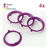 KONIKON 4X Zentrierringe 70,1 x 65,1 mm Violett Felgen Ringe Radnaben Zentrierring Adapterring Ring Felgenring Distanzring Made in Germany